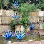 градинска ограда с водопад