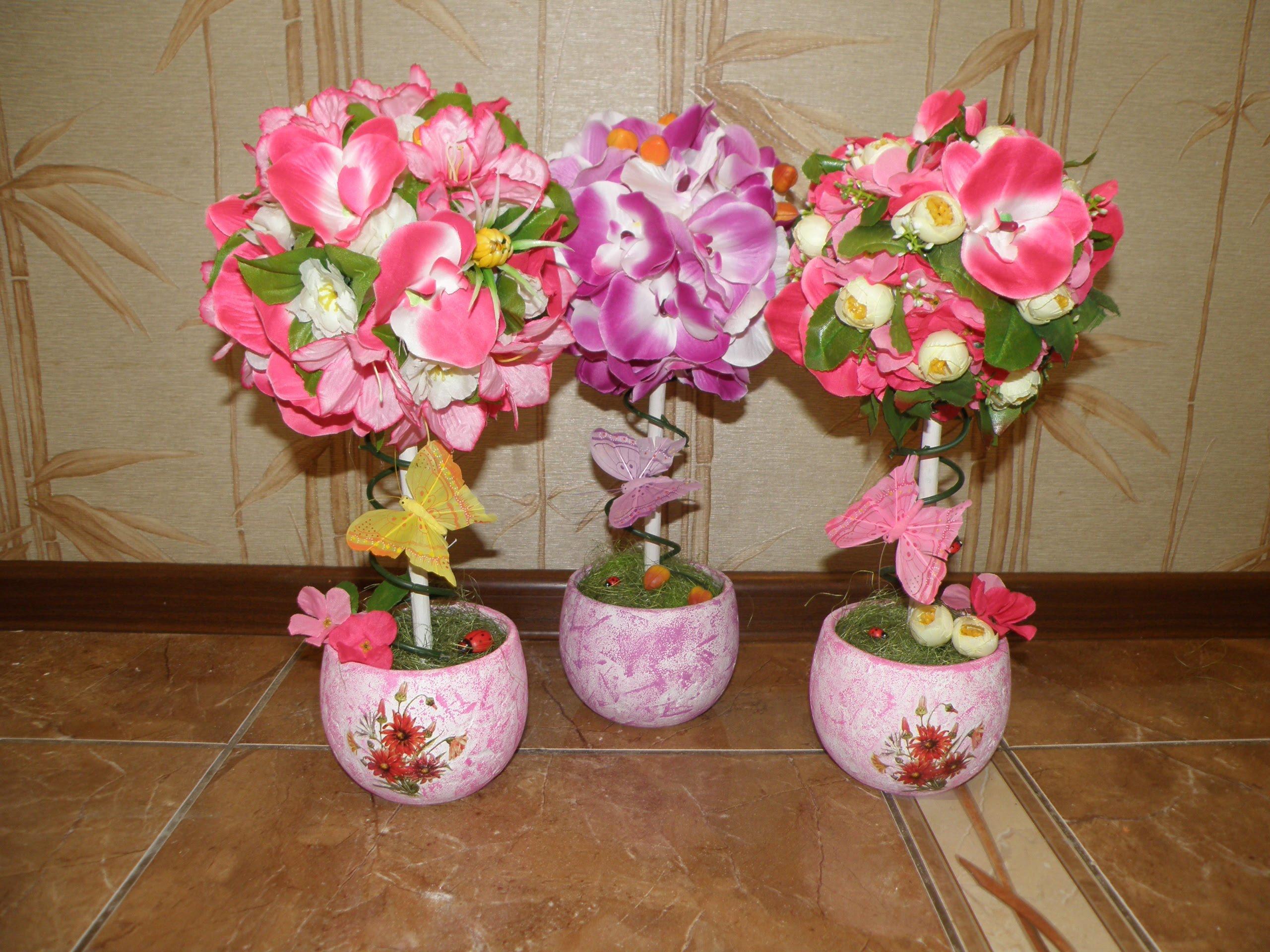 топиария с цветя